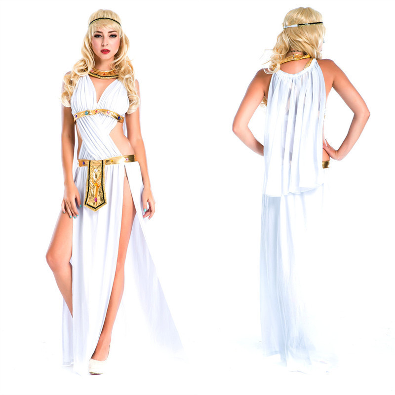 5cc39ac81861 New girl Greek Goddess Cosplay Costume White Egyptian princess dress Party  adult warrior clothes female fancy cosplay clothes