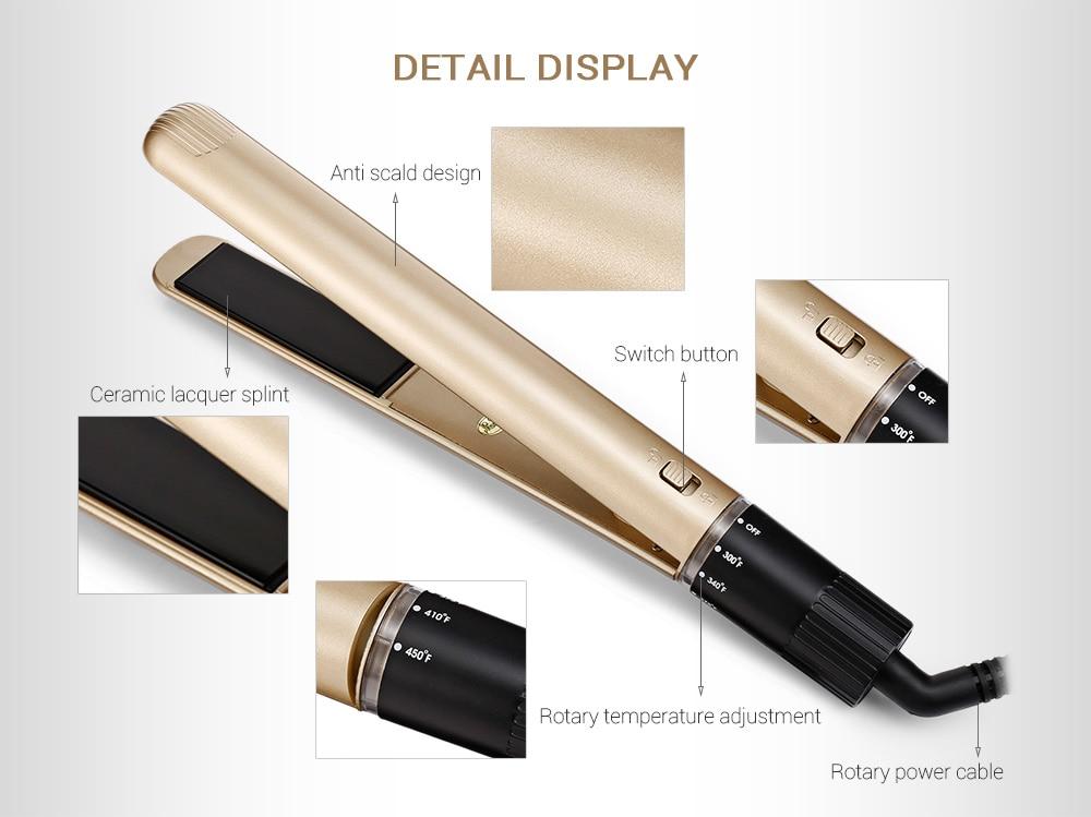 Gustala 2 in 1 Fashion Ceramic Electronic Hair Straightener