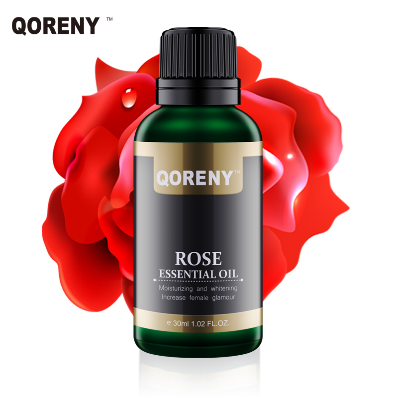 30ML Natural Rose Essential Oil Moisturizing Whitening skin care Compound Essential oil with Grape seed carrier oil Skin Care