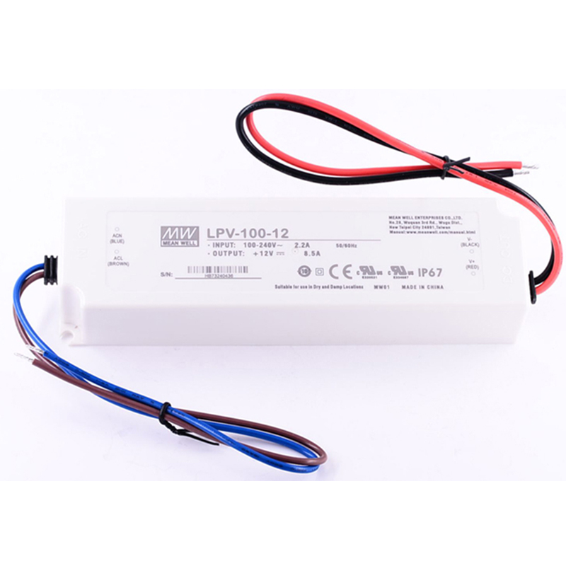 UL IP67 20W 35W 60W 100W 150W MeanWell Led Driver Adapter AC100-350V DC 12V 24V Waterproof Power Supply Transformer