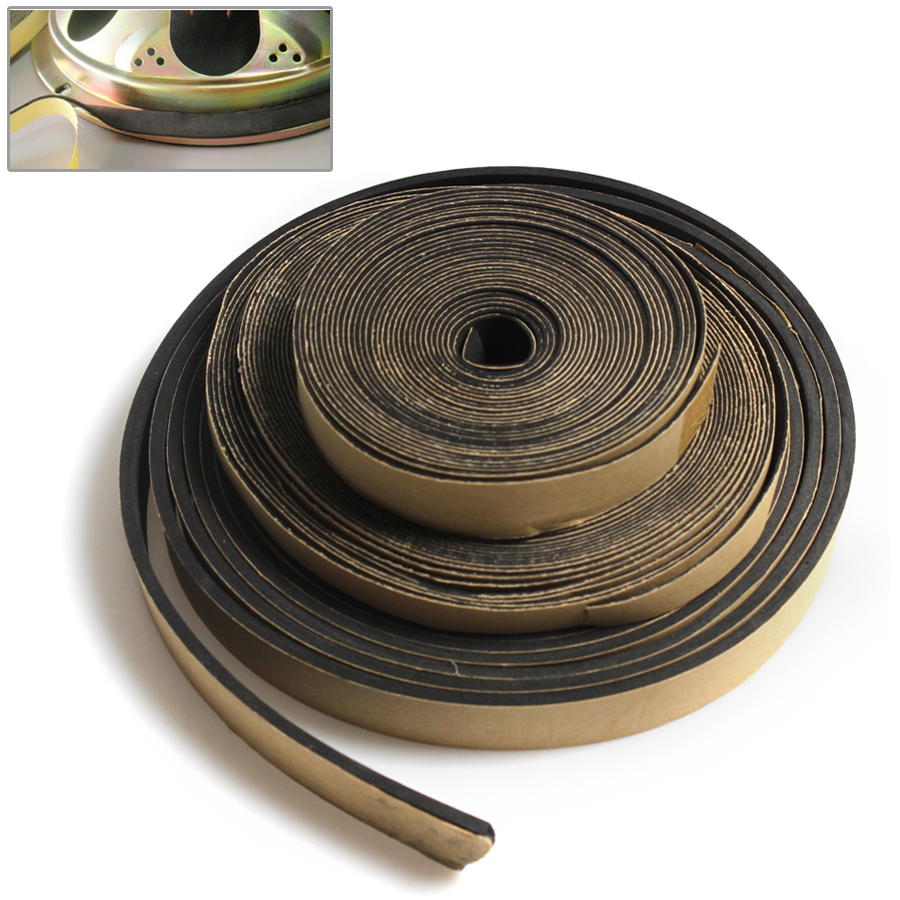 5 Meter 18*3MM/10*1MM/18*1MM EVA Speaker Repair Sealing Strip Loudspeaker Black Single-sided Shockproof Absorber Gasket Seal