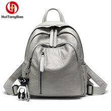 2019 Women's Shoulder Bags Fashion Student Soft Leather School Backpack For Girls Leisure Travel Bag Mochila Bagpack Rucksack все цены