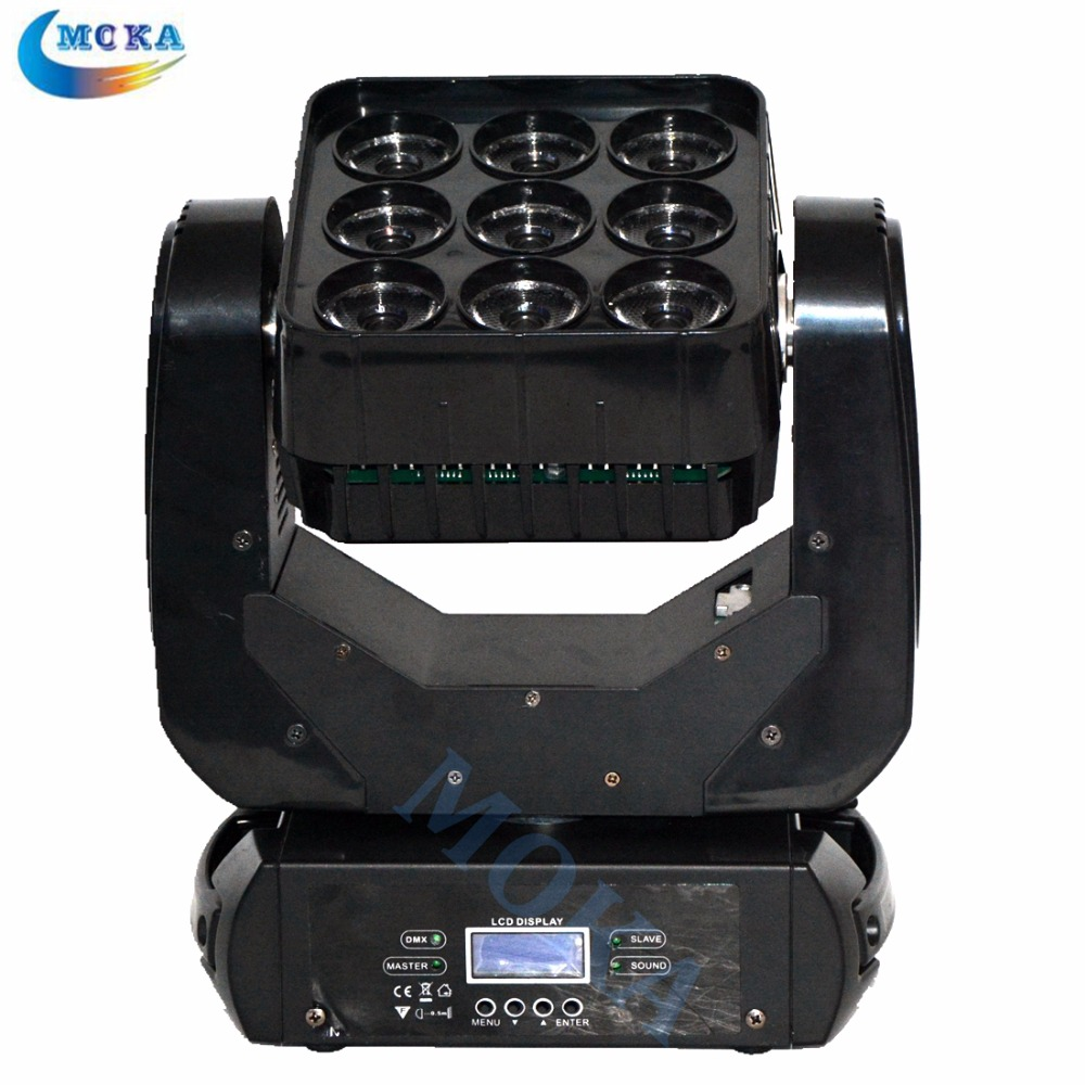 9x10W RGBW 4in1 Matrix Moving Head Light LED Matrix Light for Disco Stage Party Nightclub With Flight Case 4PCS/lot