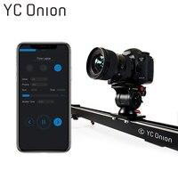 YC лук Алюминий механизированная камера ползунок приложение Bluetooth Управление стабильный ровный ползунок Камера с двигателем для фотографии