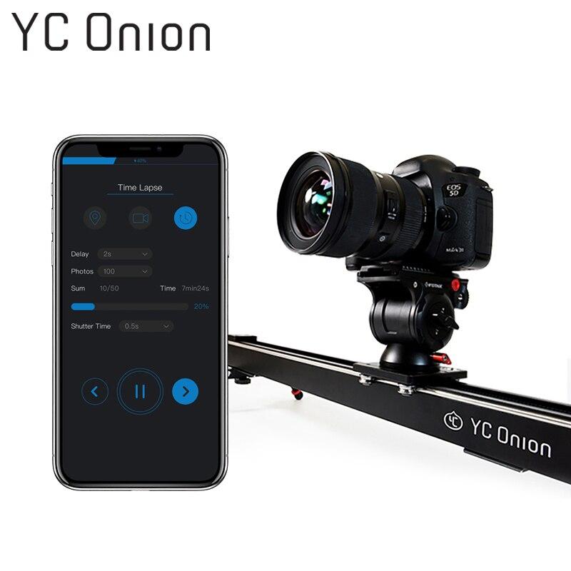 YC CIPOLLA di Alluminio Motorizzato Cursore Fotocamera App di Controllo Bluetooth Stabile Liscia Cursore Della Macchina Fotografica Con Motore Per La Fotografia DSLR
