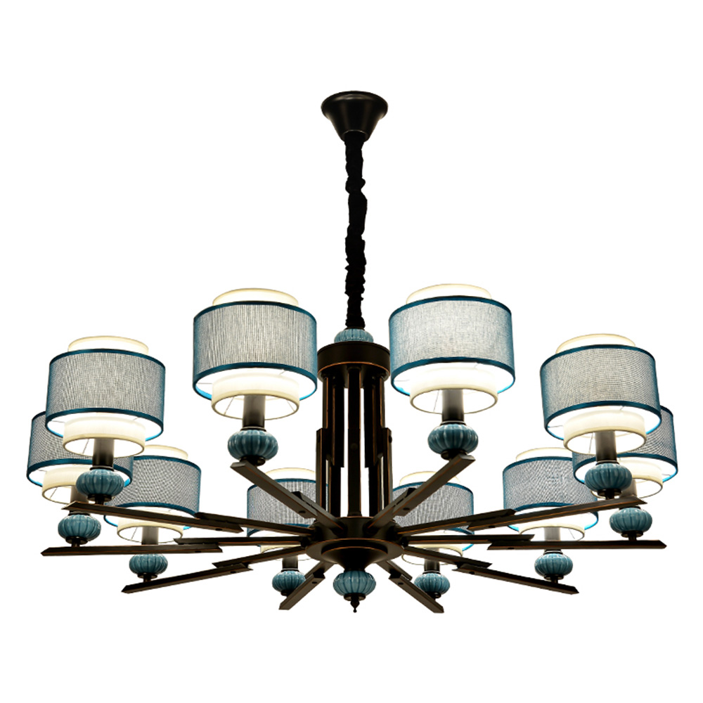 LED Modern Wrought Iron Home Lighting Chandelier 110-220v Suspension Living Room Classic Chandelier Luminarias