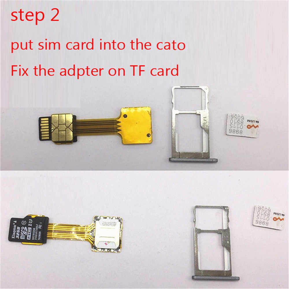 No Logo Hybrid Double Dual SIM Card Micro SD Adapter for Android Extender 2  Nano Micro SIM Adapter For XIAOMI REDMI NOTE 3 4 3s