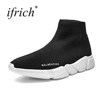 Cheap Black Couple Running Shoes Men Women Autumn Winter Walking Sneakers Slip on Sports Boots Brand Lightweight Sale
