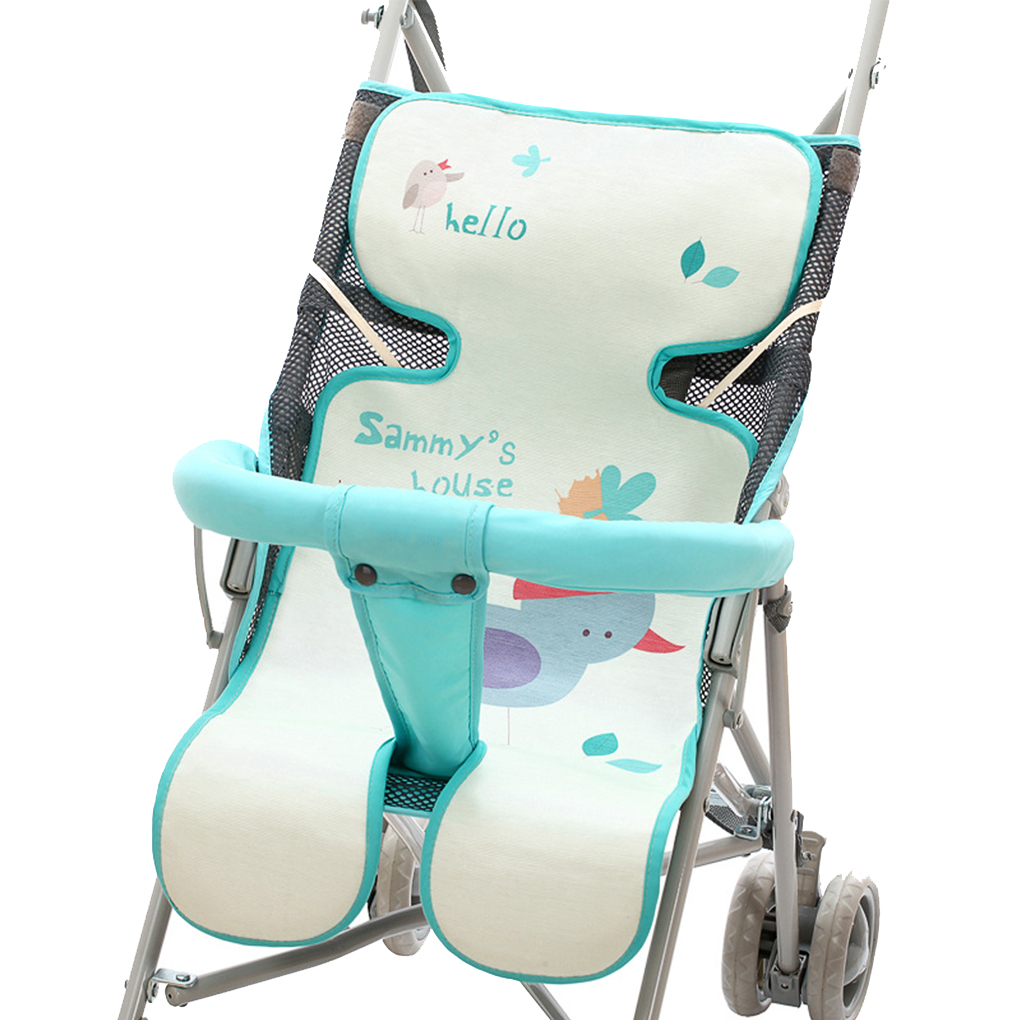 Newborn In Pram Seat Us 5 04 30 Off Newborn Stroller Seat Cushion Summer Carts Mat Mattress Infant Baby Pram Breathable Ice Silk Cool Toddler Pad In Strollers