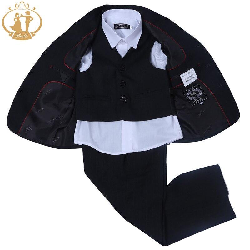 8179c207de154 Agile Noir Costume Pour Garçon jogging garcon garçons costumes pour  mariages costume enfant garcon mariage blazer garçons terno menino smoking