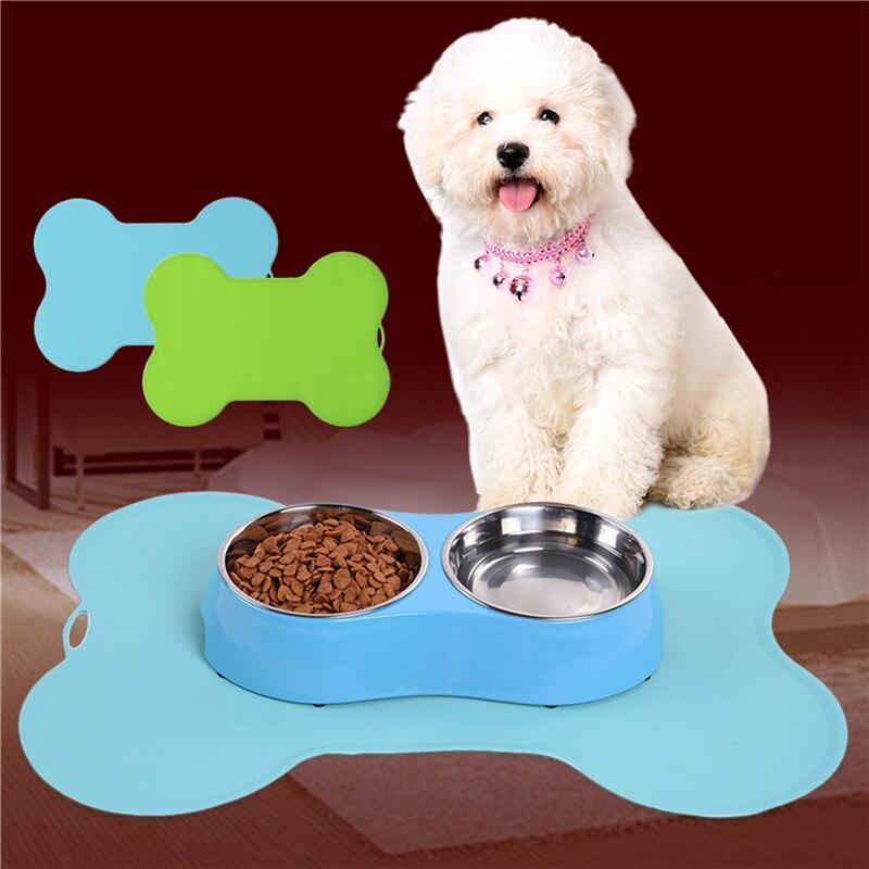 Bone-shaped Pet Feeding Mat Silicone - Pet Shop 101