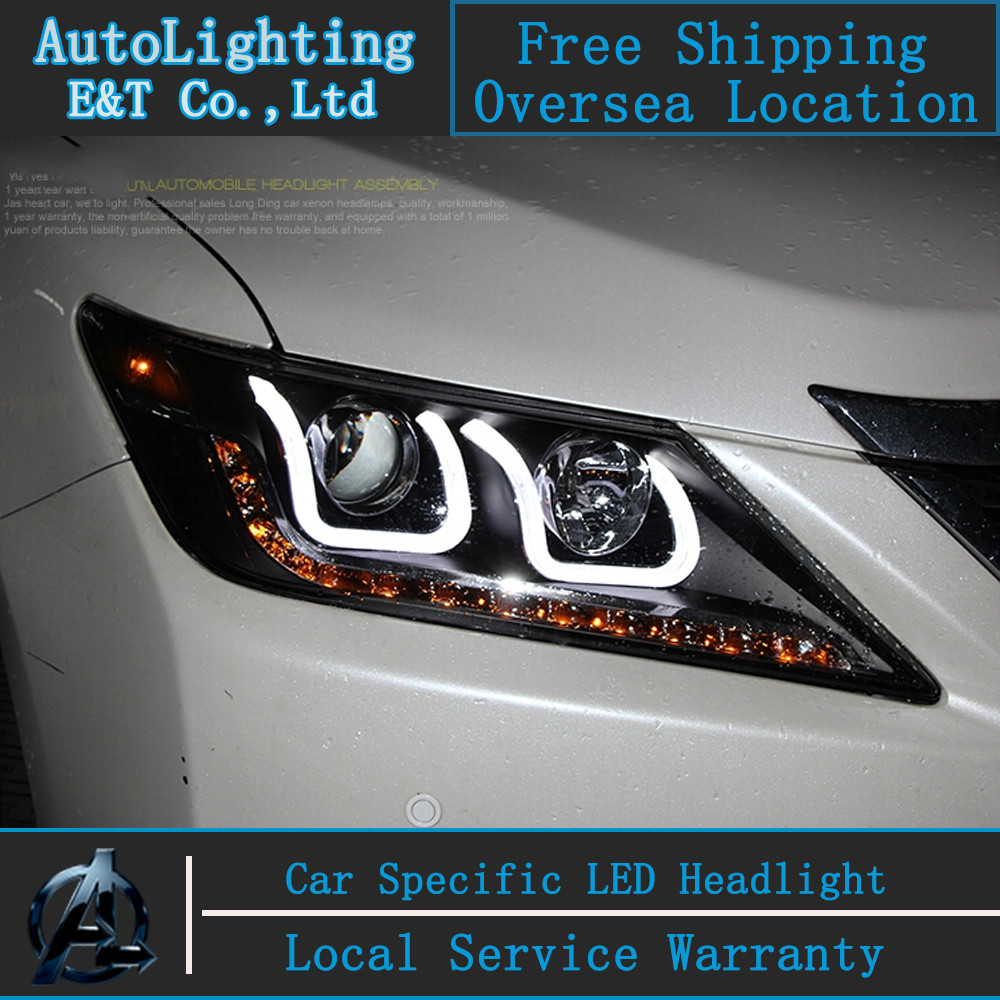 Car styling LED Head Lamp for Toyota Camry V50 led headlight assembly 2012-2014 angel eye led drl H7 with hid kit 2 pcs. car styling camry