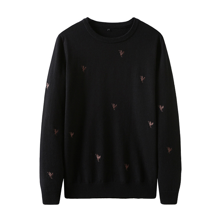 New 2019 Man Luxury Embroidered Crane Crane Knit Casual Sweaters Pullovers Asian Plug Size High Quality Drake #J65