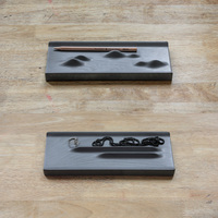 The study of concrete decoration wood texture cement art creative stationery jewelry containing tray silicone mold