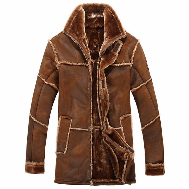 2018 novas chegadas de luxo inverno quente casacos de pele dos homens e casacos outerwear designer marca do vintage mans casacos de pele w021