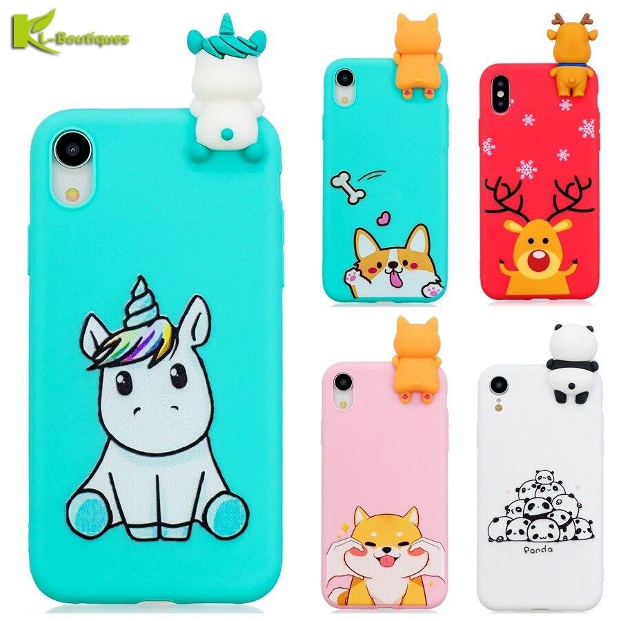 sito affidabile b21e9 090c0 US $2.63 20% OFF Etui for iPhone XS Max 7 Plus Case Unicorn Soft Silicone  3D Dolls Toy Cover on for iPhone 6 6s 7 8 X XR XS Max 5 5s Phone Cases-in  ...