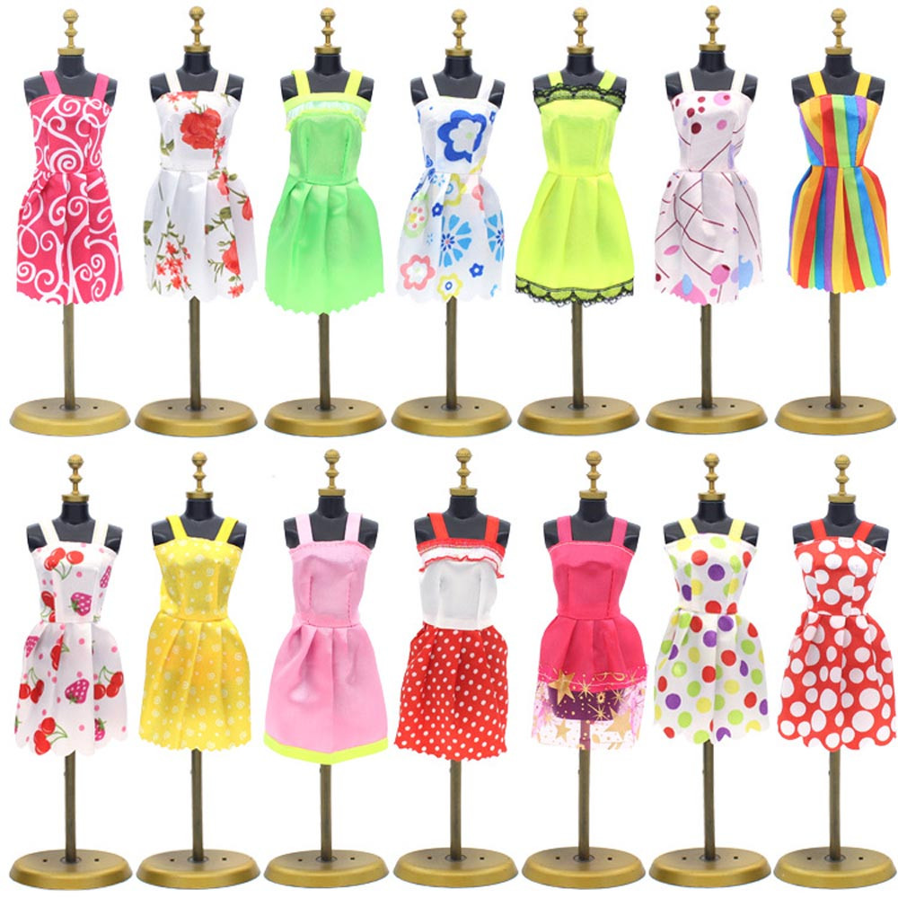 6PC/Set Dress Clothes For Barbie Doll 30cm Girl 1/6 Fashion Clothing For American Girl Dolls Handmade Accessories 2018 New JA22a american girl dolls clothing 6 styles elegant color flower print long dress for 18 inch doll clothes accessories girl x 40