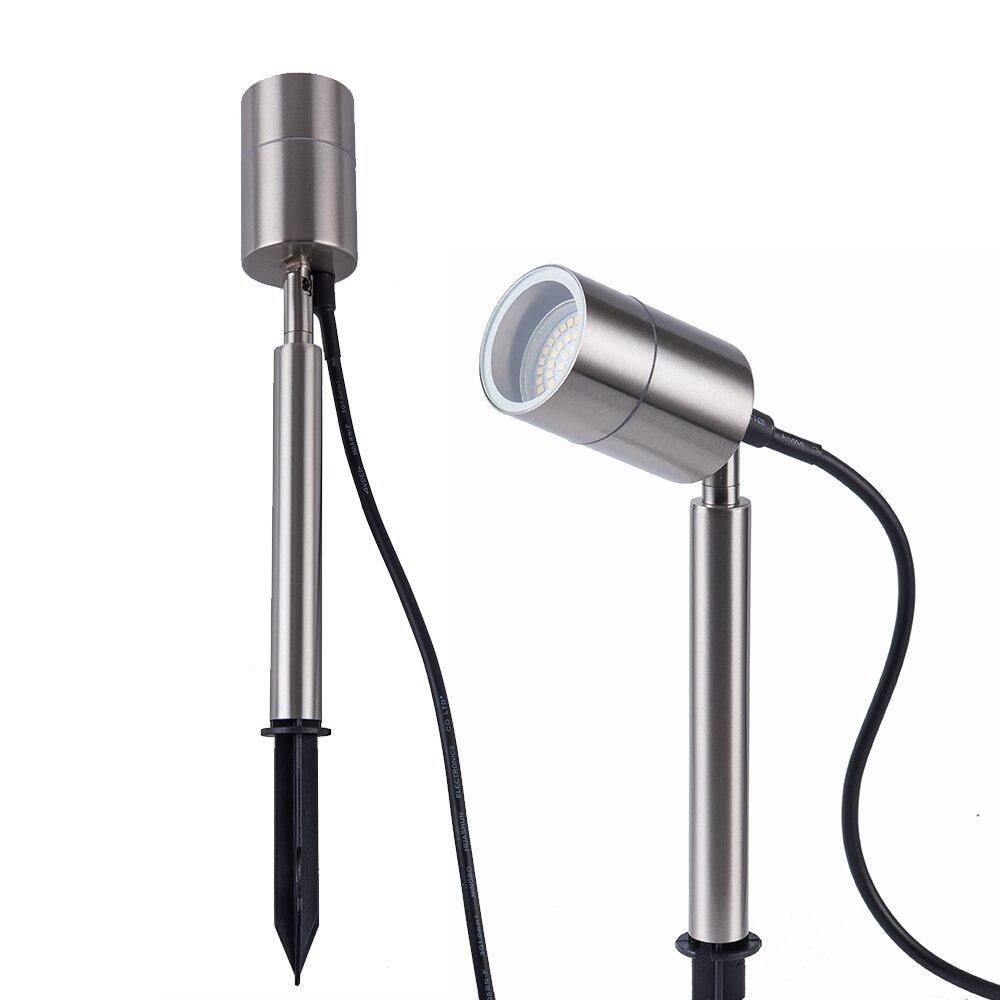 Landscape Outdoor Lighting Waterproof IP65 LED Garden Light GU10 Spike Spot Lights Aluminum Material 5W Lawn Lamp