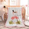 Медведь  лиса  фламинго  супер мягкое теплое Коралловое флисовое легкое летнее одеяло для маленьких мальчиков и девочек  на кровать  диван  ...