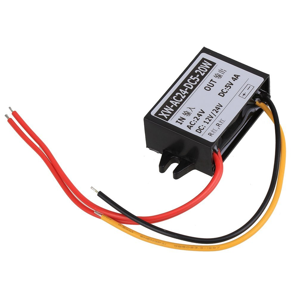 Car LED Waterproof <font><b>DC</b></font> (AC) / <font><b>DC</b></font> Buck <font><b>Converter</b></font> 24V <font><b>12V</b></font> 36V (8V-40V) to <font><b>5v</b></font> <font><b>4A</b></font> 20W image