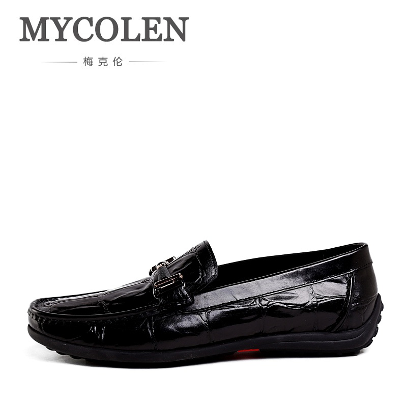MYCOLEN Men Loafers Shoes New Fashion Stone Pattern Casual Men's Flats Design Man Driving Shoes Soft Bottom Leather Shoes new fashion summer spring men driving shoe loafers real leather boat shoes breathable male casual flats loafers men casual shoes
