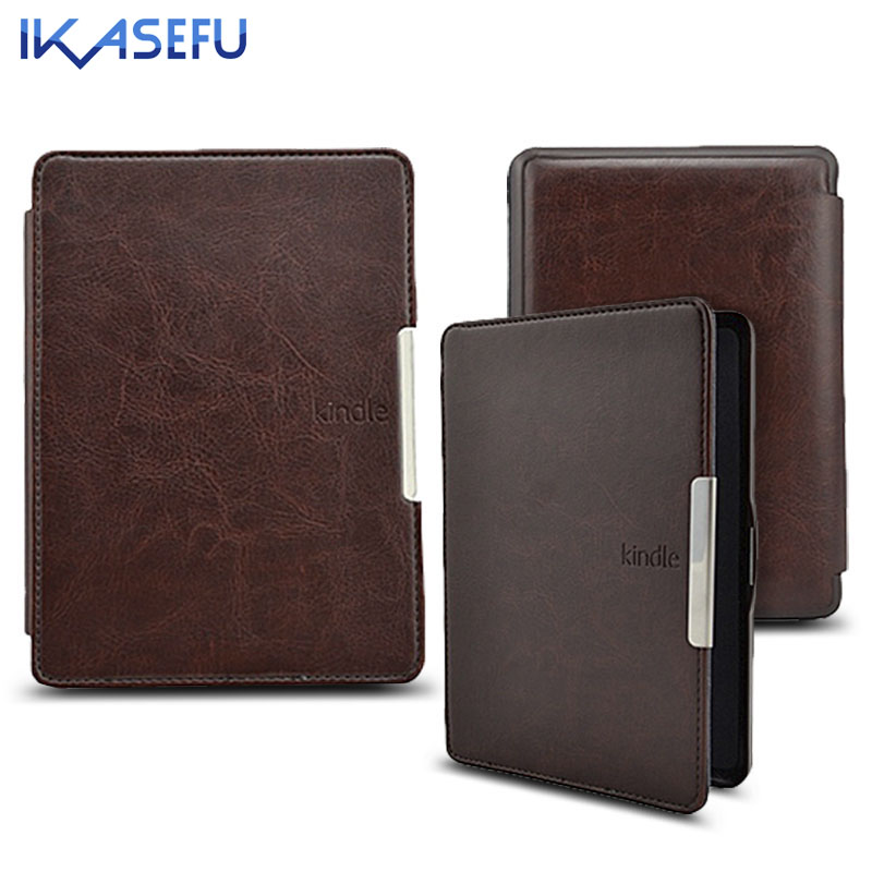 IKASEFU 6 inch Coque for Kindle Paperwhite 1 / Paperwhite 2 PU Leather E-book Sleep Case Cover for Amazon kindle paperwhite capa walnew leather case for amazon kindle paperwhite 6 inch e book cover fits all versions 2012 2013 2014 and 2015 all new 300 ppi