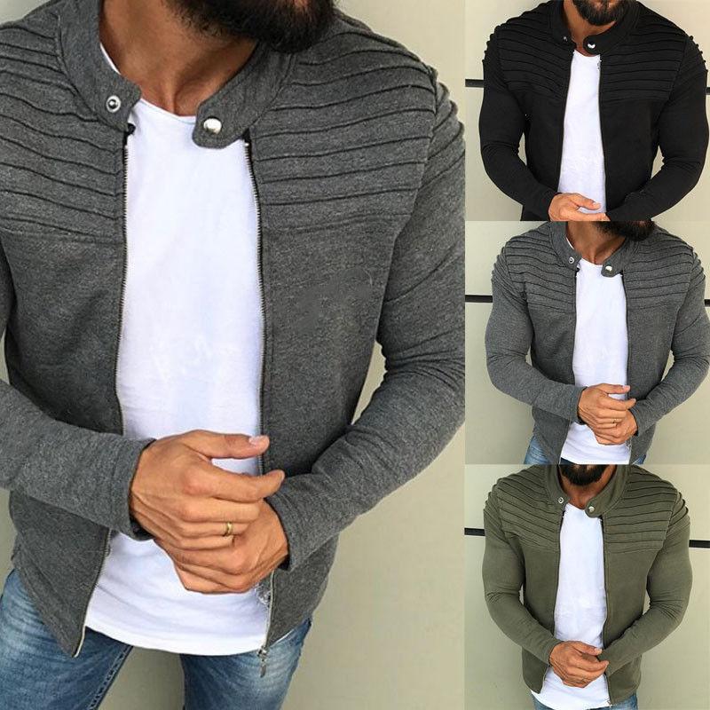2018 new men's hoodie brand all-color men's hooded sweatshirt men's hooded undershirt long-sleeved fall/winter cardigan XXXL