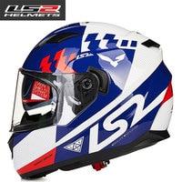LS2 FF328 volle gesicht moto rcycle helm mit inneren sonnenblende mann racing moto rbike helm DOT genehmigt LS2 moto HELME