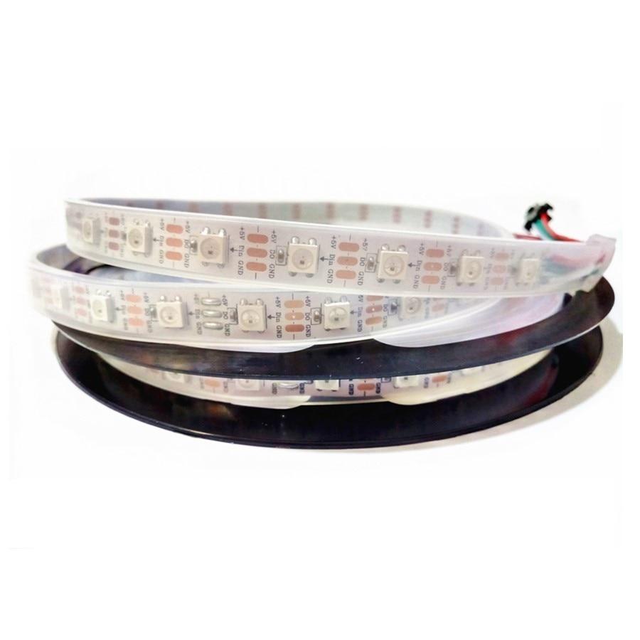 RGB Led Strip Waterproof ws2811 ws2812 5m 5 12 V 5050 led light strip 5v 12v 30 60 144 led m ws2812b Dream Color led Stripe Tape in LED Strips from Lights Lighting
