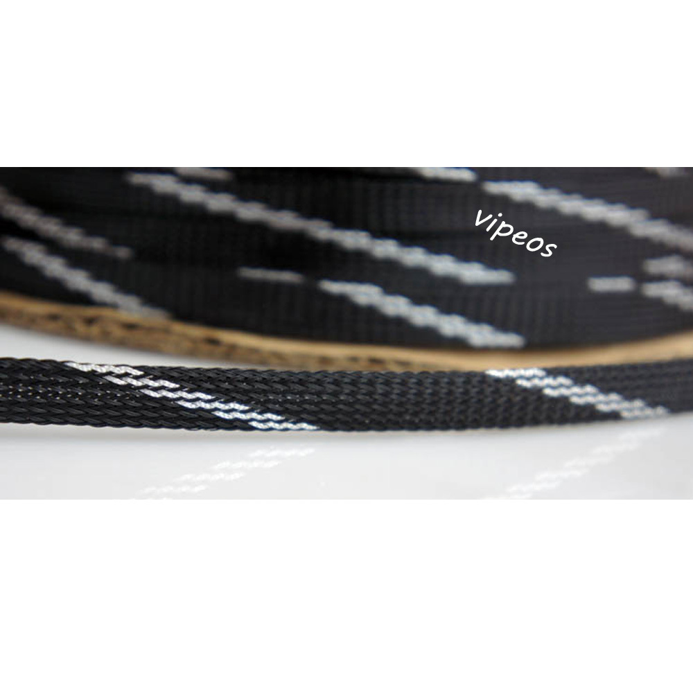 10meter Braided Cable 9 14mm Wiring Harness Loom Protection Sleeving Wire Silverblack In Audio Video Cables From Computer Office On Alibaba