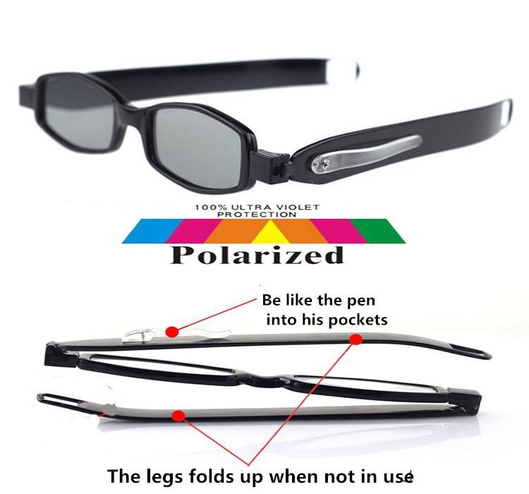 ecbf343202 2017 360 grados de rotación plegable gafas de sol polarizadas Polaroid  polarizado fácil llevar UV 400 hombres mujeres gafas de sol en Gafas de sol  de ...