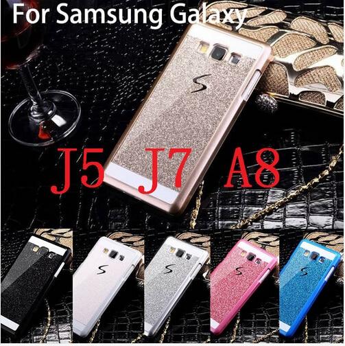 2016 luxury Bling Shinning bright diamond PC cover case Samsung Galaxy phone J7 J5 A8 Hard Cases - wu feifei store