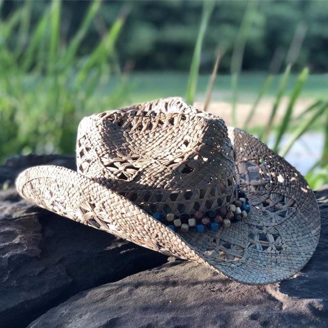 2018 mujeres sombrero de vaquero occidental hecho a mano playa fieltro  sunhats casquillo del partido para 9d5947b7dae