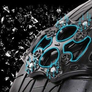 Image 4 - 8pcs/set 4pcs/set Car Tyre Winter Roadway Safety Tire Snow Adjustable Anti skid Safety Double Snap Skid Wheel TPU Chains