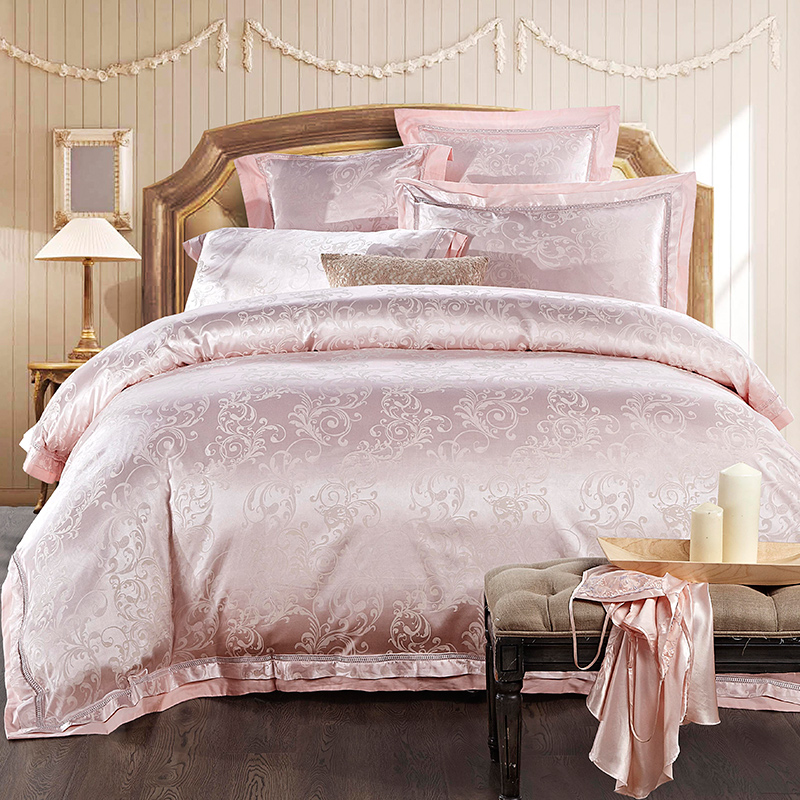 2017 Luxury Silk bedding set 4/6pcs pink white blue bedclothes bedlinen queen king size Quilt duvet cover sets bedsheets cotton 2017 Luxury Silk bedding set 4/6pcs pink white blue bedclothes bedlinen queen king size Quilt duvet cover sets bedsheets cotton