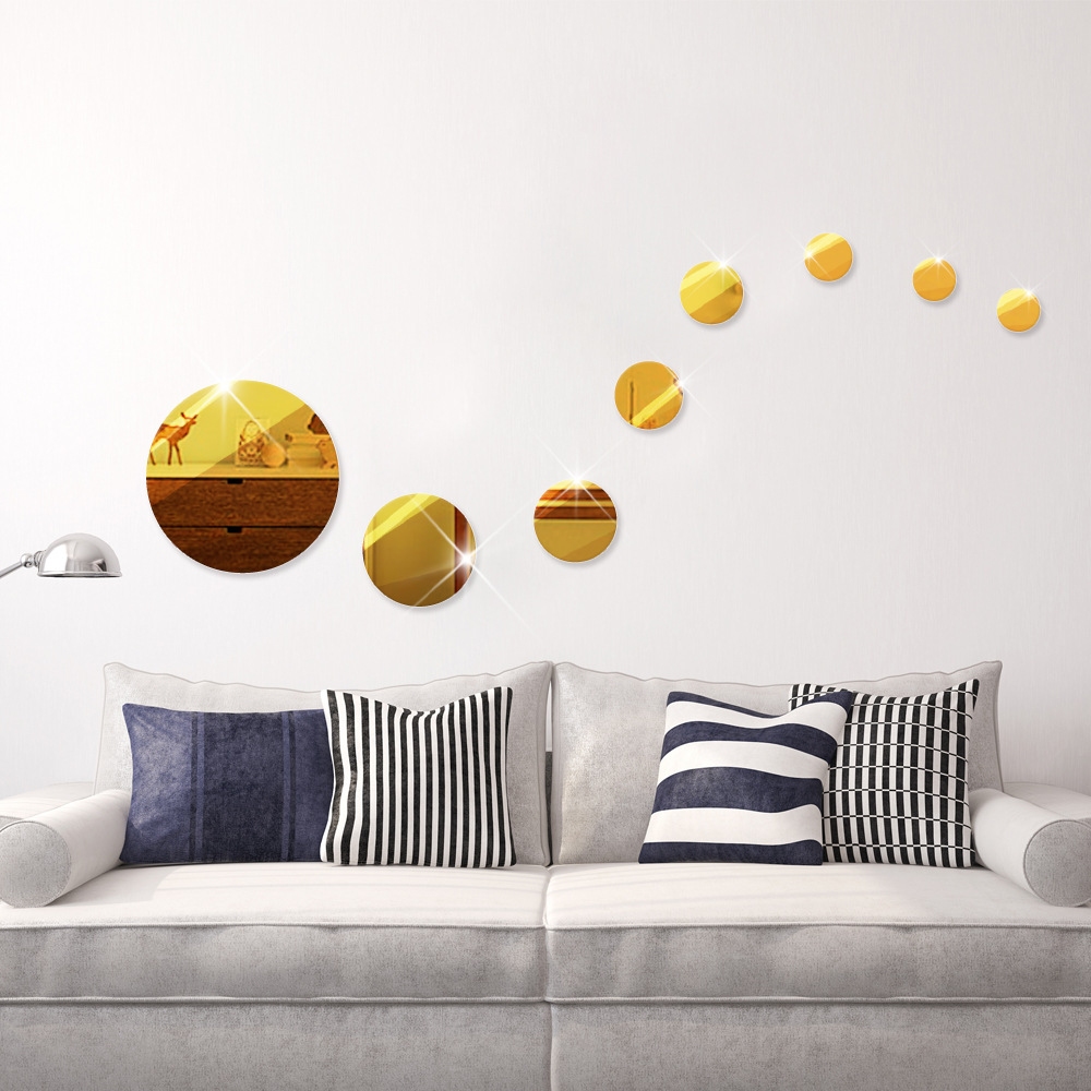 Mirror stickers for wall choice image home wall decoration ideas online get cheap gold stickers wall aliexpress alibaba group 9 pcsset fashion home decor round shape amipublicfo Gallery