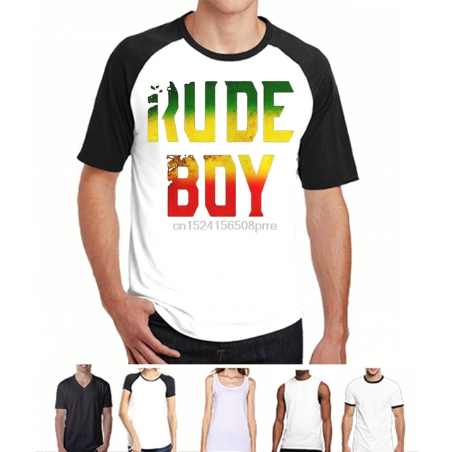 255de3357 Funny Men t shirt Women novelty tshirt Rude Boy Rasta Reggae Roots Gifts Clothing  Shirt Jamaica cool T-Shirt