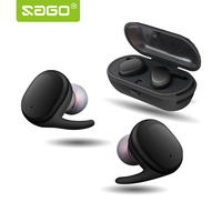 Sago S9100 Wireless Earphone Mini Bluetooth Earbuds IPX5 Waterproof Touch Control With Mic Hands Free Car