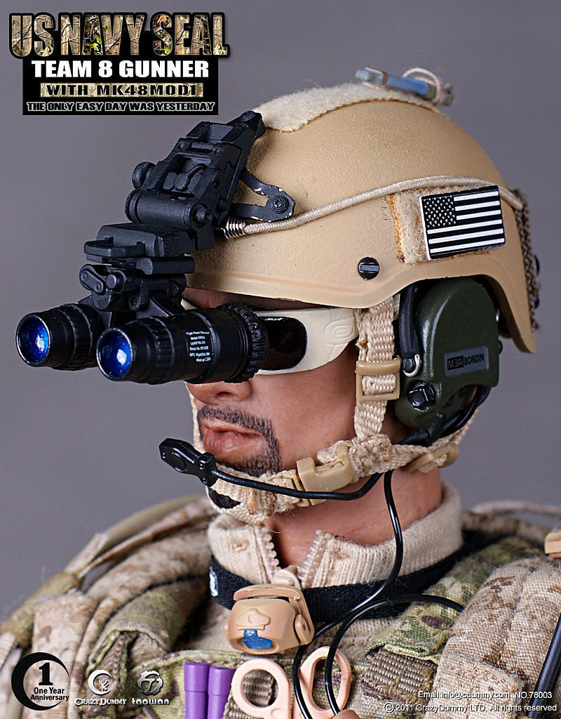 HOT FIGURE TOYS 1/6 US NAVY SEAL TEAM 8 GUNNER WITH MK48MOD1