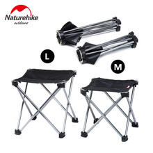 Brand Naturehike Outdoor Folding Fishing Picnic BBQ Garden Chair Tool Square Camping Stool 7075 Aluminium Alloy large size