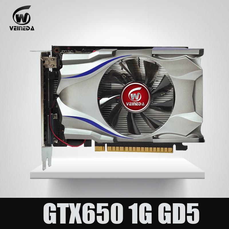 GTX650 GPU Veineda vidéo carte GTX650 1G 128Bit gtx graphique vga carte de jeu 1059/5000 MHz plus fort que HD6570 pour nVIDIA Gamings