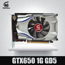 GTX650 GPU veineda видео карты GTX650 1 г 128Bit GTX графики VGA карточная игра 1059/5000 мГц сильнее, чем HD6570 для NVIDIA gamings