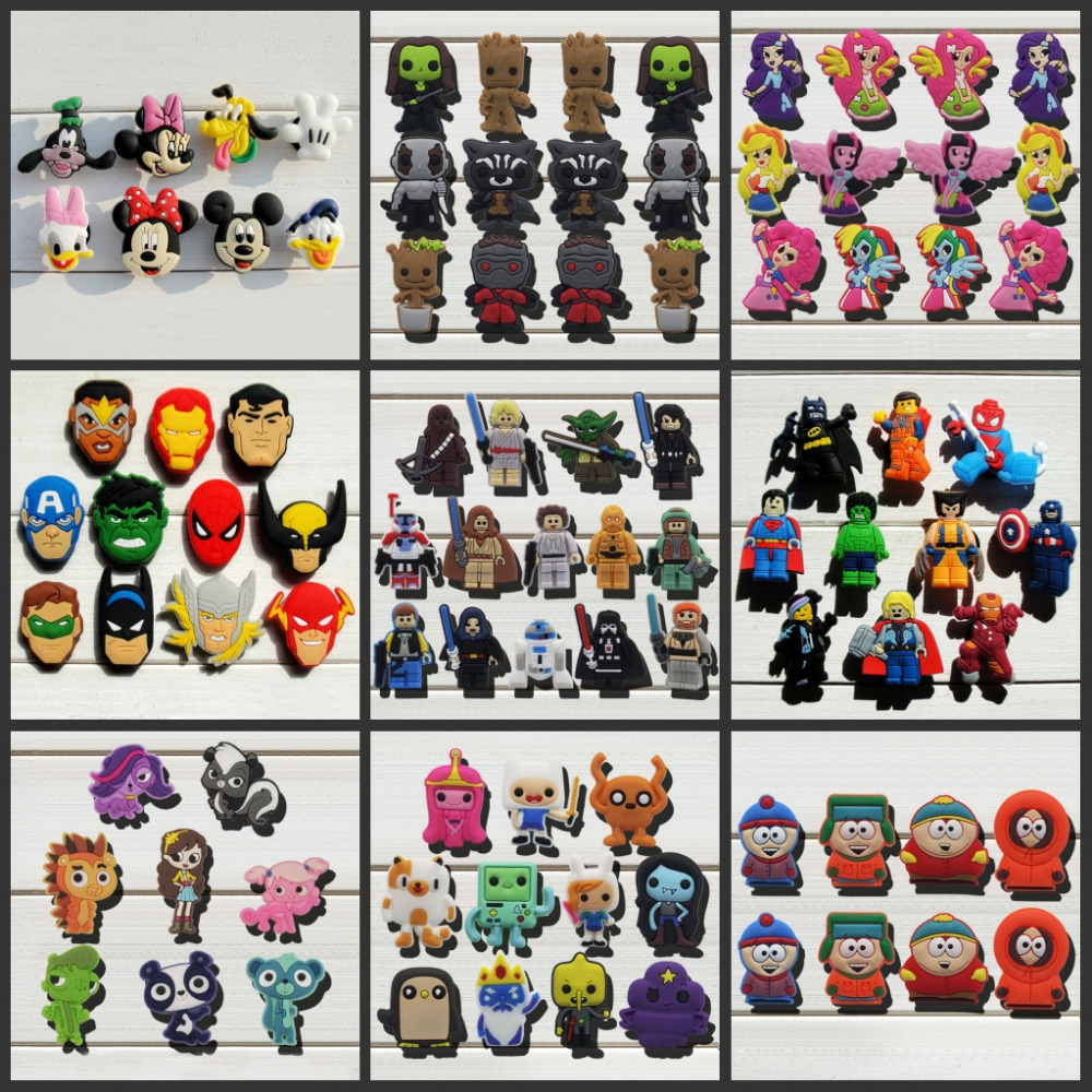 Hot Cartoon Adventure time super man south park shoe buckle shoe charms shoe accessories for Bands,Fit croc JIBZ kids Gift inflatable bounce house inflatable slide castle with small pool pink indoor and outdoor palyground inflatable bouncer with slide