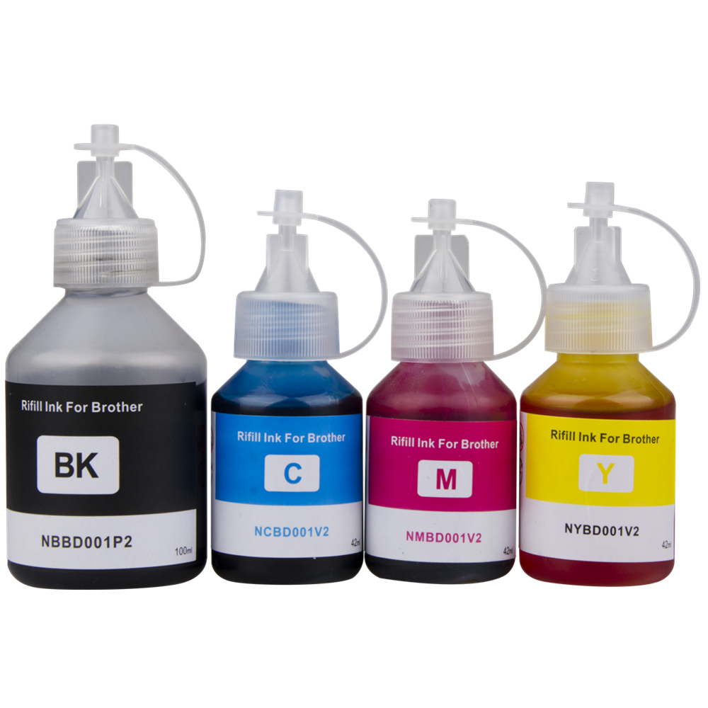 Printer Ink Refill Dye Ink Kit For Brother DCP-T300 DCP-T500W DCP-T700W T800W Refillable Inkjet Printer