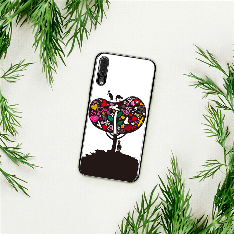 Logical Eleteil Cases Covers Colored Painted For Huawei P10 Tree Painted Silicone Tpu Cute Cartoon Painted For Huawei P20 Plus Lite E40 Phone Bags & Cases Cellphones & Telecommunications