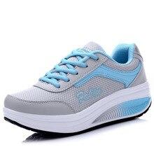 New swing casual chaussures femmes plat plate-forme perte de poids de remise en forme chaussures zapatillas mujer plataforma respirant air chaussures femme