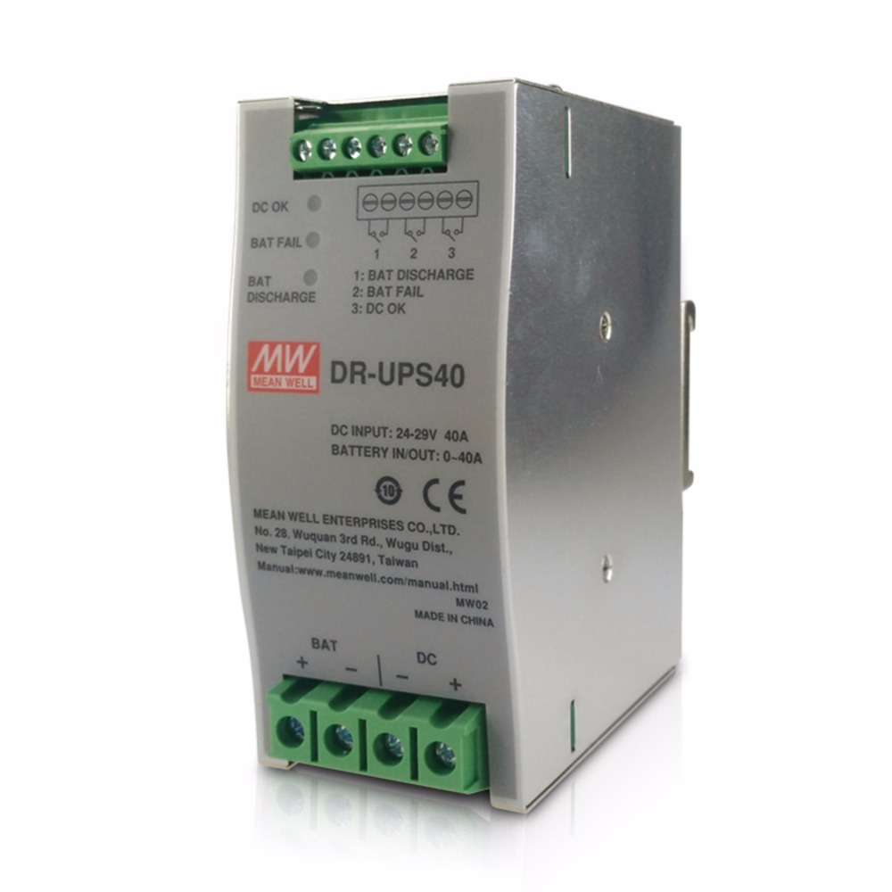 Original MEAN WELL DR-UPS40 40A 24-29V DC UPS Module Din rail power supply meanwell battery controller for DIN rail UPS system пижама для мальчика котмаркот цвет синий 16095 размер 116