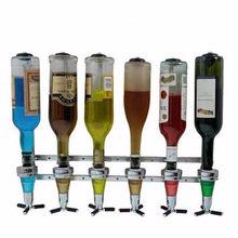 Wand Wein Schnaps Getränke Dispenser Bar Weinhalter 6 Flaschen aufnahmen Stehen Maschine Bar Tool Für Bier Soda Coke-öffner Sprudelnden Soda