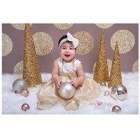 Bez szwu Fotografia Tło Fotografia Tło Papieru Złota Kropek Stałe Brązowe Ściany Tłem dla Baby Shower Dzieci Urodziny