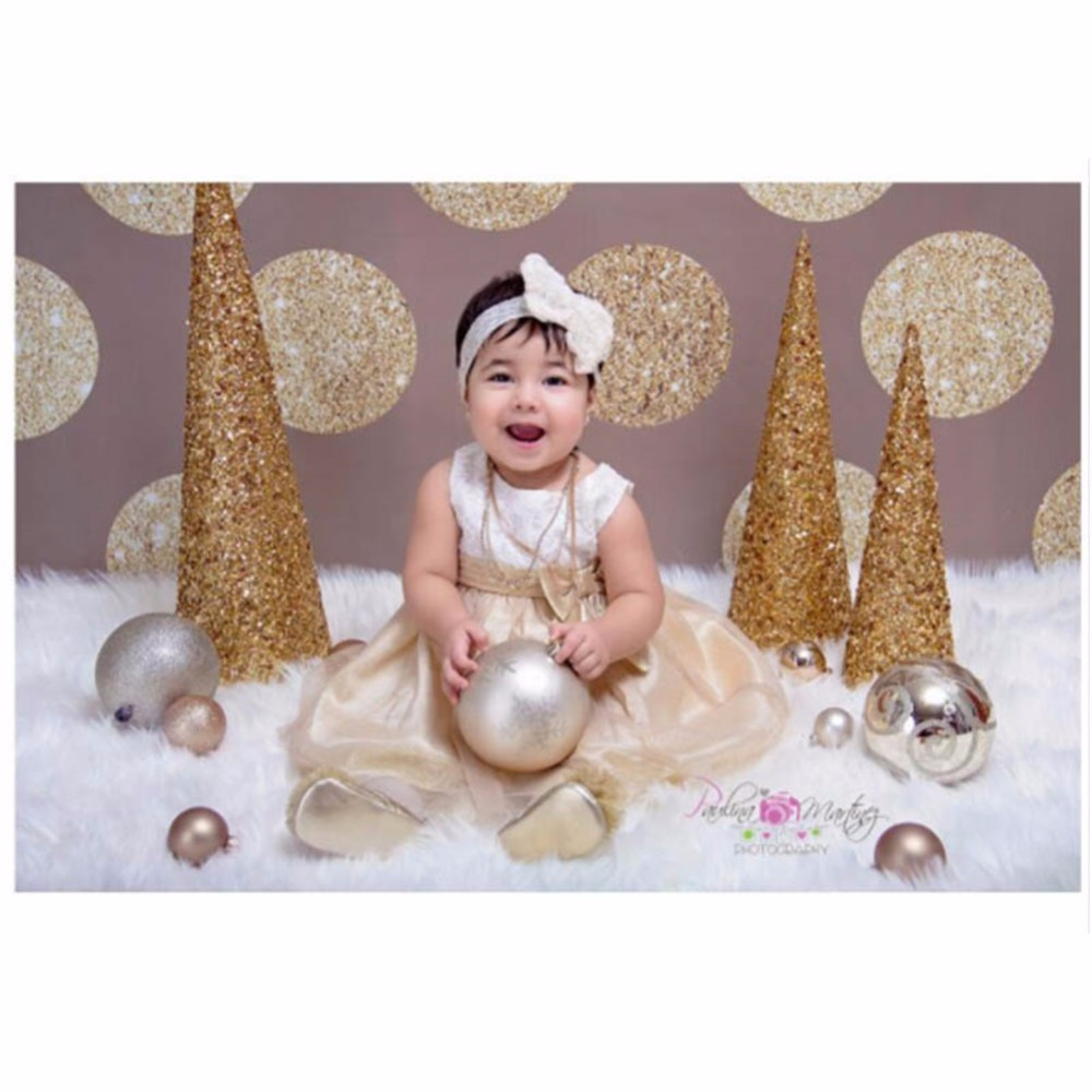 Seamless Photography Background Paper Photography Backdrop Gold Dots Solid Brown Wall Backdrops for Baby Shower Kids Birthday